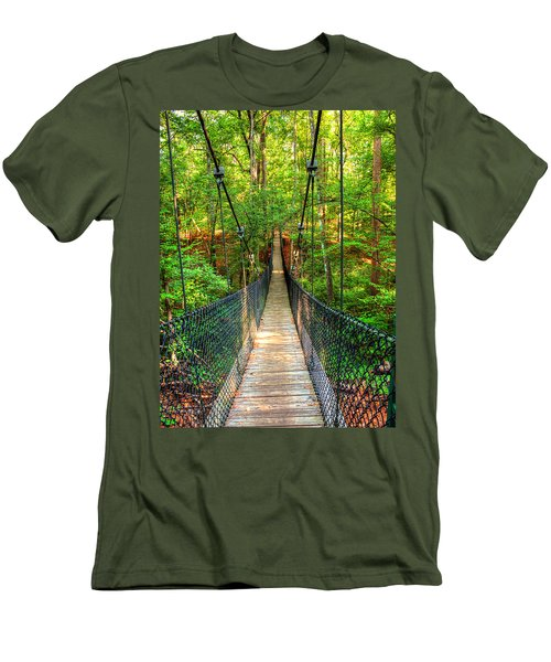 Hanging Bridge Men's T-Shirt (Slim Fit) by Ester  Rogers