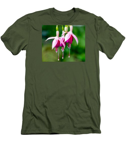 Hanging Flowers  Men's T-Shirt (Athletic Fit)