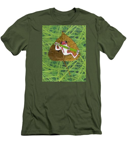 Hanging On Men's T-Shirt (Slim Fit) by Ralph Root