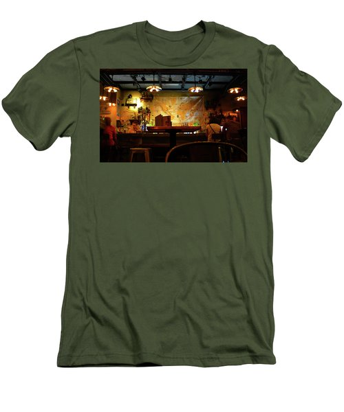 Men's T-Shirt (Slim Fit) featuring the photograph Hanging With Jock by David Lee Thompson