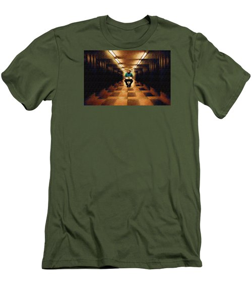 Men's T-Shirt (Slim Fit) featuring the photograph Hanging In The Balance by Mario Carini