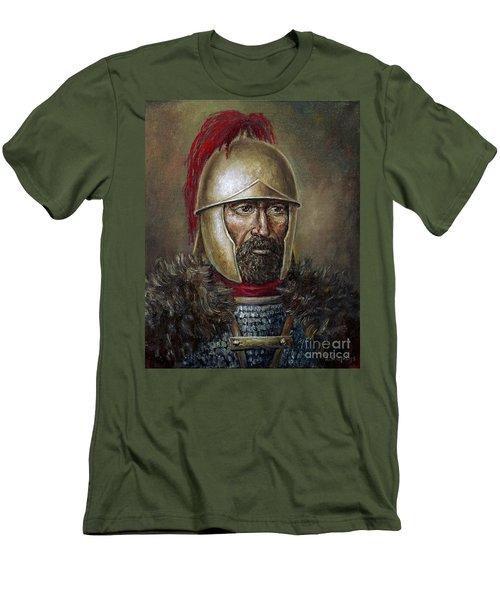 Hannibal Barca Men's T-Shirt (Slim Fit) by Arturas Slapsys