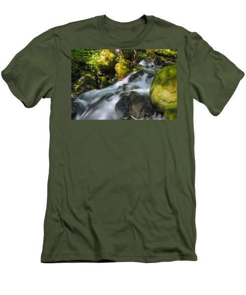 Hanson Falls Men's T-Shirt (Slim Fit) by Larry Ricker