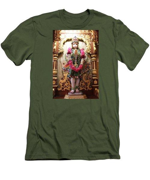 Hanuman Ji, Radha Gopinath Mandir, Mumbai Men's T-Shirt (Athletic Fit)