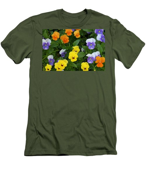 Men's T-Shirt (Slim Fit) featuring the digital art Happy Faces by Barbara S Nickerson