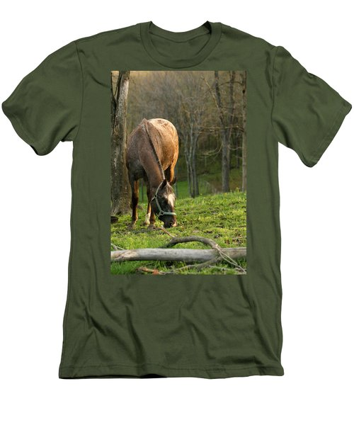 Men's T-Shirt (Slim Fit) featuring the photograph Happy Grazing by Angela Rath