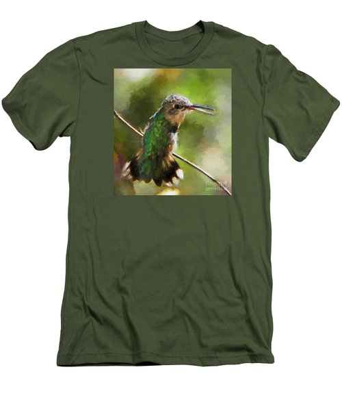 Happy Hummingbird Men's T-Shirt (Athletic Fit)
