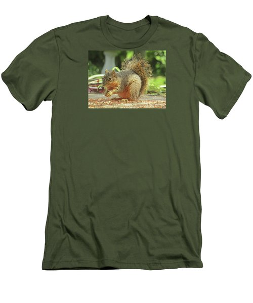 Happy Squirrel Men's T-Shirt (Athletic Fit)