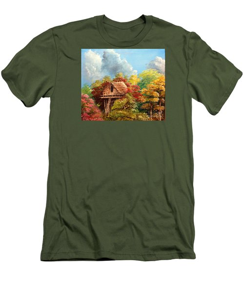 Men's T-Shirt (Slim Fit) featuring the painting Hariet by Jason Sentuf