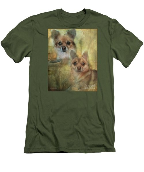 Harley Girl N Bear Men's T-Shirt (Slim Fit) by Rhonda Strickland