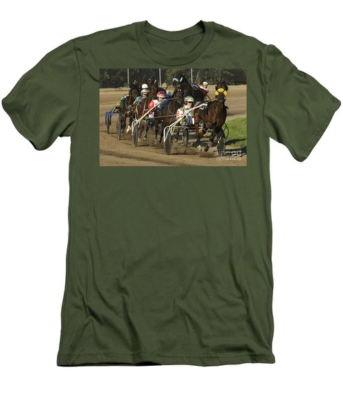 Harness Racing 9 Men's T-Shirt (Slim Fit) by Bob Christopher