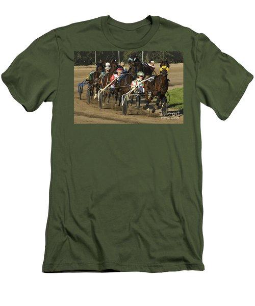 Harness Racing 9 Men's T-Shirt (Slim Fit) by Bob Christopher