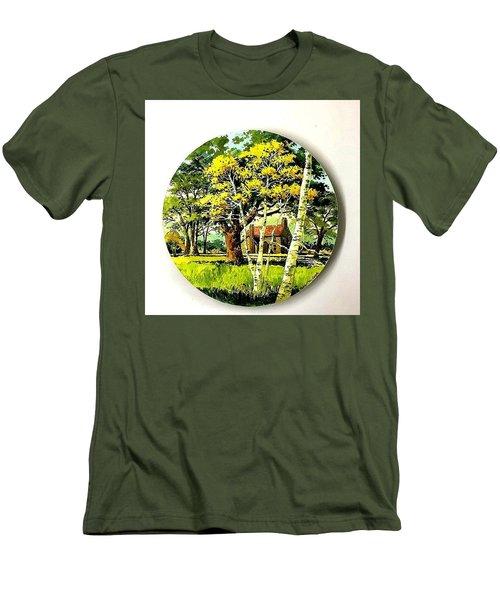 Harvest Moon Landscape Men's T-Shirt (Athletic Fit)