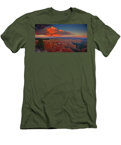 Harvest Moon Over Bryce National Park Men's T-Shirt (Athletic Fit)