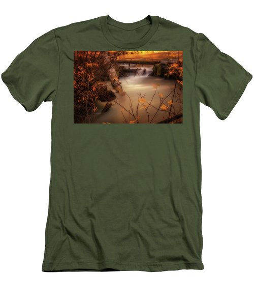 Hat Creek In Gold Men's T-Shirt (Athletic Fit)