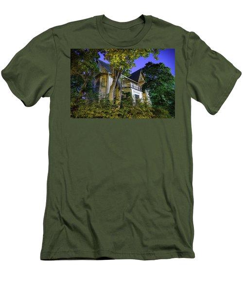 Haunted House Men's T-Shirt (Slim Fit) by Teemu Tretjakov