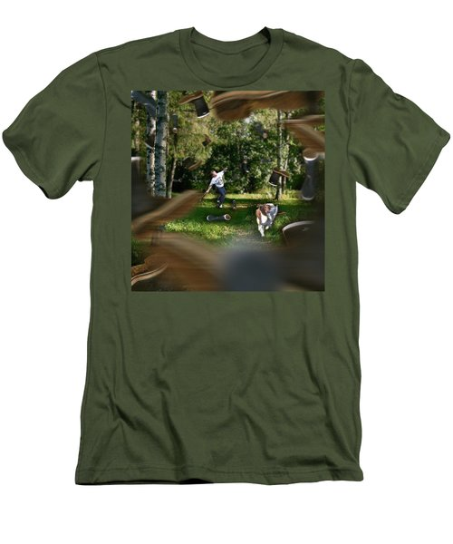 Having Fun Men's T-Shirt (Athletic Fit)