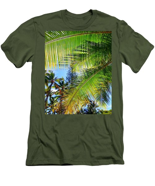 Hawaiian Palm Men's T-Shirt (Athletic Fit)