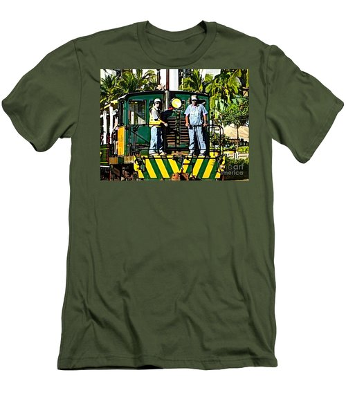 Hawaiian Railway Men's T-Shirt (Athletic Fit)