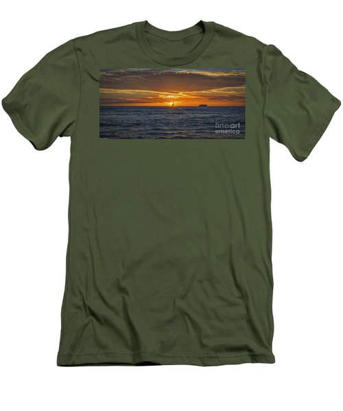 Men's T-Shirt (Slim Fit) featuring the photograph Hawaiian Winter Sunset by Mitch Shindelbower