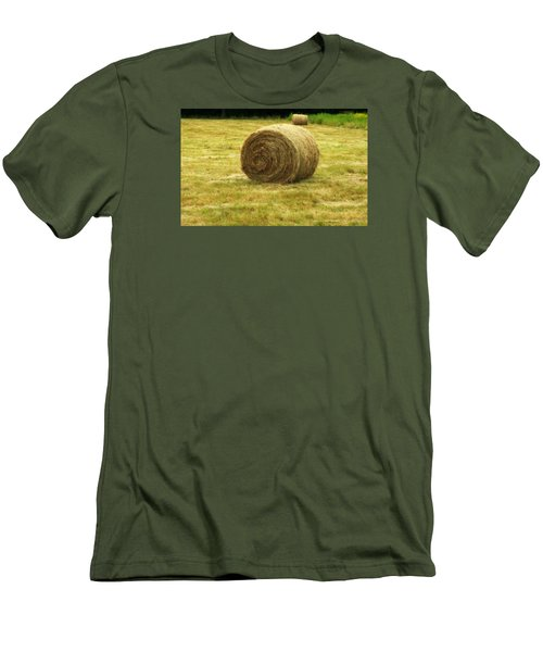 Hay Bale  Men's T-Shirt (Slim Fit) by Bruce Carpenter