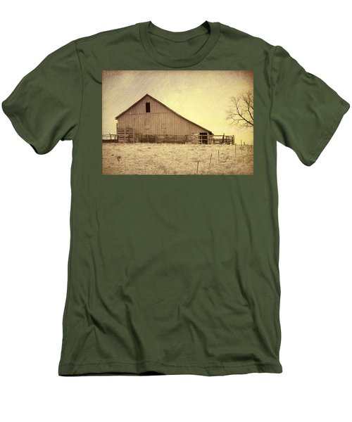 Men's T-Shirt (Slim Fit) featuring the photograph Hay Barn by Susan Crossman Buscho