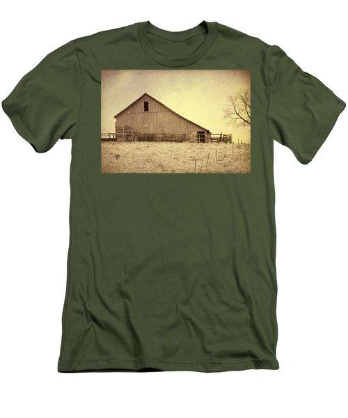 Hay Barn Men's T-Shirt (Slim Fit) by Susan Crossman Buscho