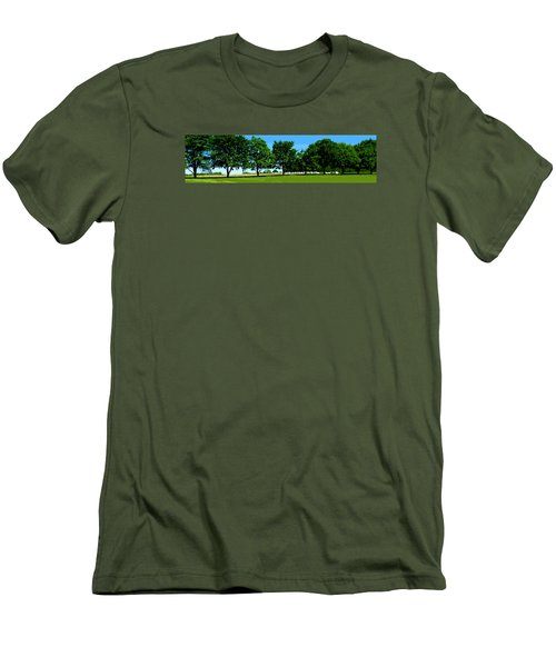 Men's T-Shirt (Slim Fit) featuring the photograph Hay Harvest by Spyder Webb
