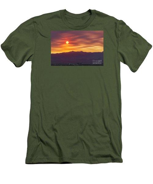 Hazy Las Vegas Sunset Men's T-Shirt (Slim Fit) by Aloha Art