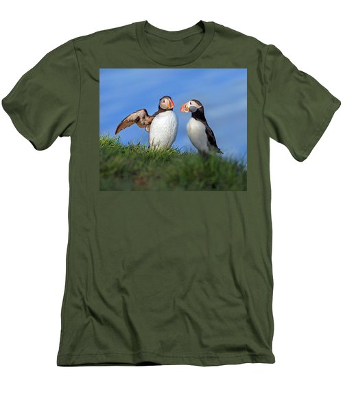 He Went That Way Men's T-Shirt (Slim Fit) by Betsy Knapp