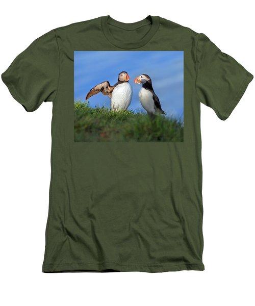 He Went That Way Men's T-Shirt (Athletic Fit)