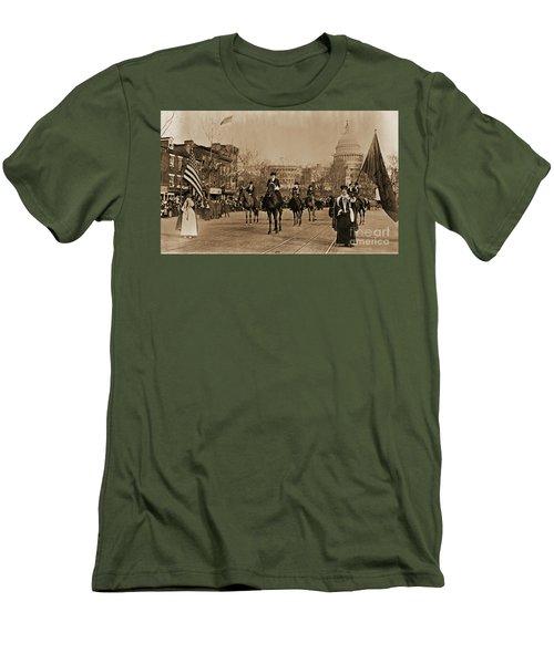 Head Of Washington D.c. Suffrage Parade Men's T-Shirt (Slim Fit) by Padre Art