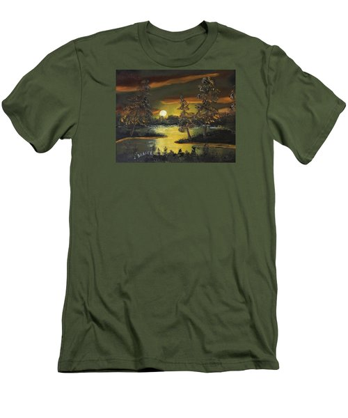 Headwaters Sunset 160115 Men's T-Shirt (Slim Fit) by Jack G Brauer