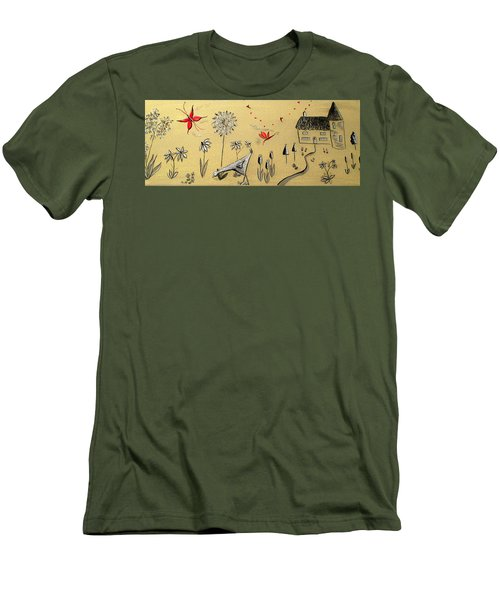 Heart Cottage Red 2 Men's T-Shirt (Athletic Fit)