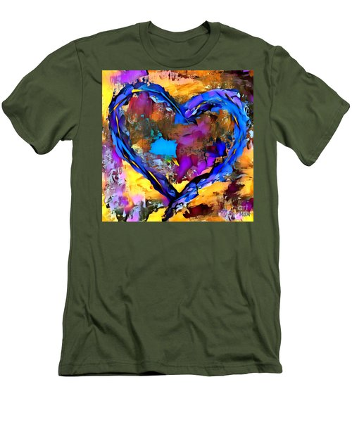Heart No 7 Men's T-Shirt (Athletic Fit)