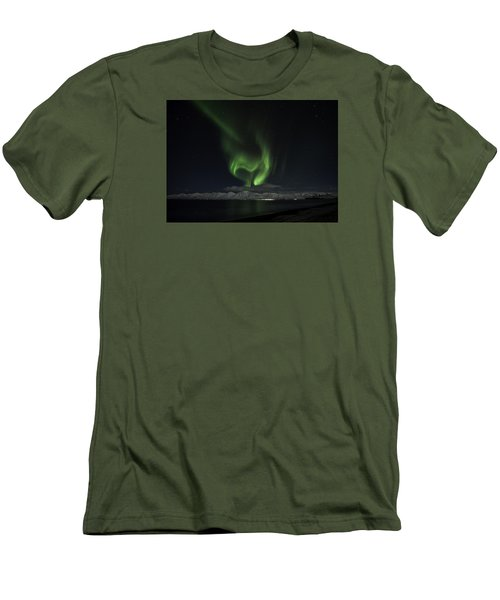 Heart Of Northern Lights Men's T-Shirt (Slim Fit) by Frodi Brinks