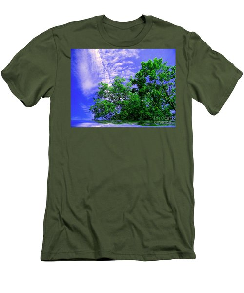 Men's T-Shirt (Slim Fit) featuring the photograph Heavenly by Elfriede Fulda