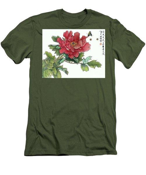 Heavenly Flower Men's T-Shirt (Athletic Fit)