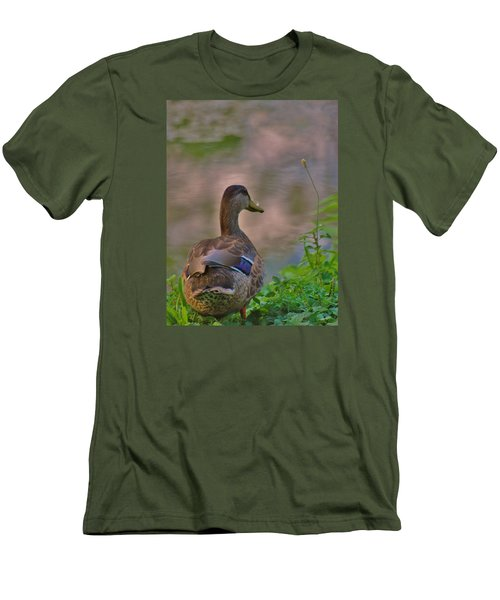 Men's T-Shirt (Slim Fit) featuring the photograph Heavenly Mallard by Ramona Whiteaker