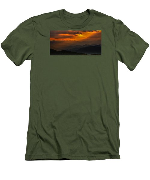 Heaven's Light On The Blue Ridge Parkway Men's T-Shirt (Athletic Fit)