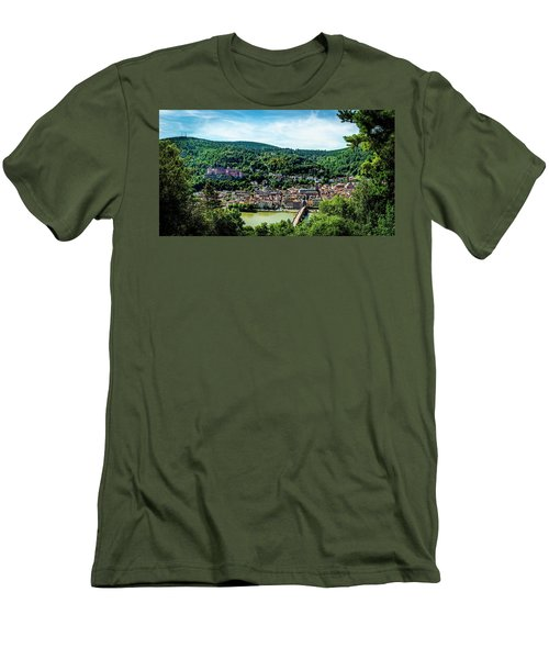 Men's T-Shirt (Slim Fit) featuring the photograph Heidelberg Germany by David Morefield
