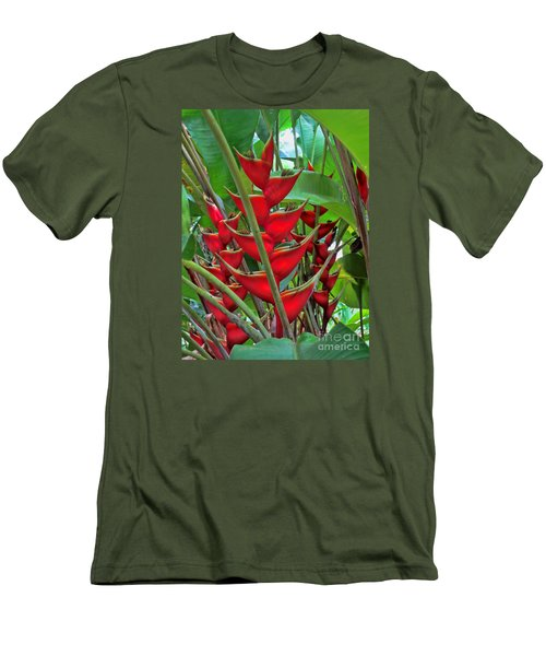 Heliconias Men's T-Shirt (Athletic Fit)