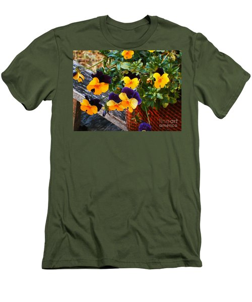 Men's T-Shirt (Slim Fit) featuring the photograph Hello Spring by Donna Dixon