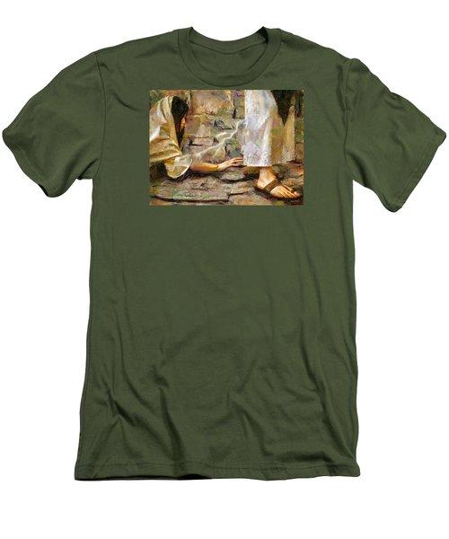 Hem Of His Garment Men's T-Shirt (Slim Fit) by Wayne Pascall