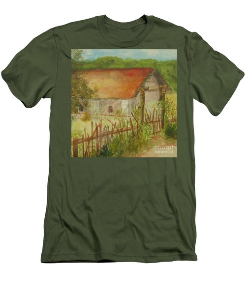 Men's T-Shirt (Slim Fit) featuring the painting Herb Garden by Vicki  Housel