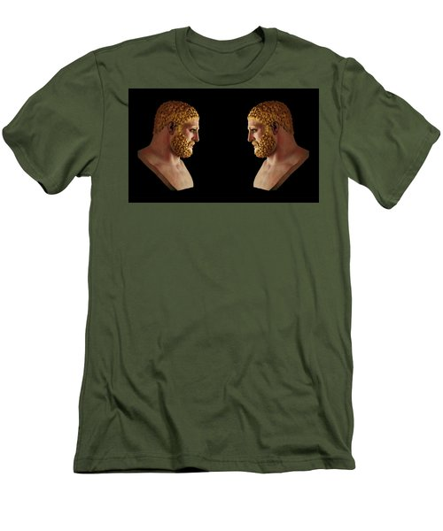 Men's T-Shirt (Athletic Fit) featuring the mixed media Hercules - Blondes by Shawn Dall