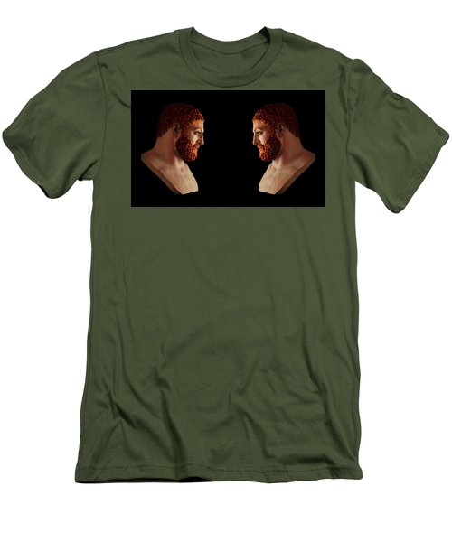 Men's T-Shirt (Athletic Fit) featuring the mixed media Hercules - Gingers by Shawn Dall
