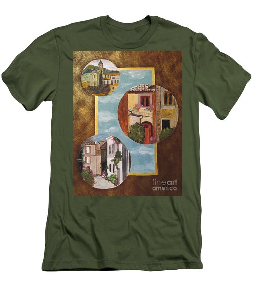 Men's T-Shirt (Slim Fit) featuring the painting Heritage by Judy Via-Wolff