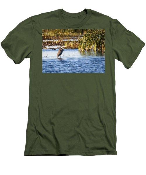 Heron - Horicon Marsh - Wisconsin Men's T-Shirt (Slim Fit) by Steven Ralser