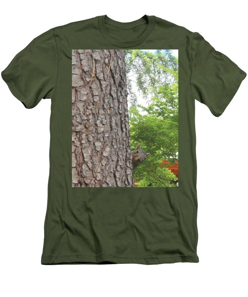 Men's T-Shirt (Slim Fit) featuring the photograph Hey Down Here by Marie Neder